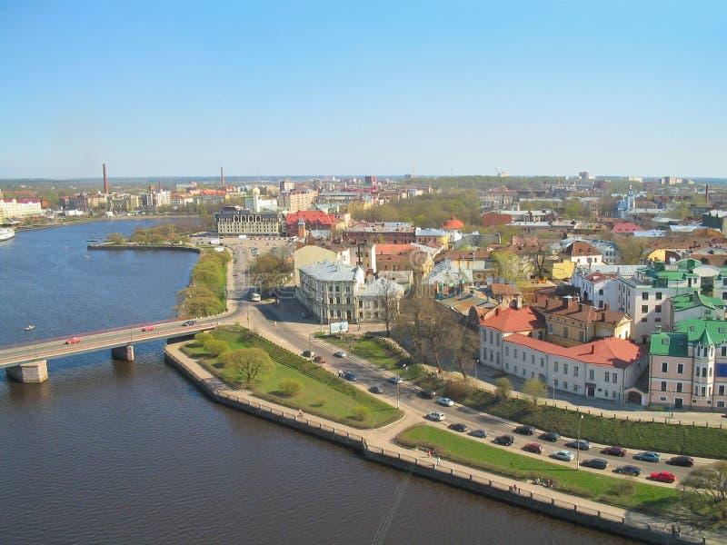 Взгляд сверху Выборга, России стоковые изображения rf