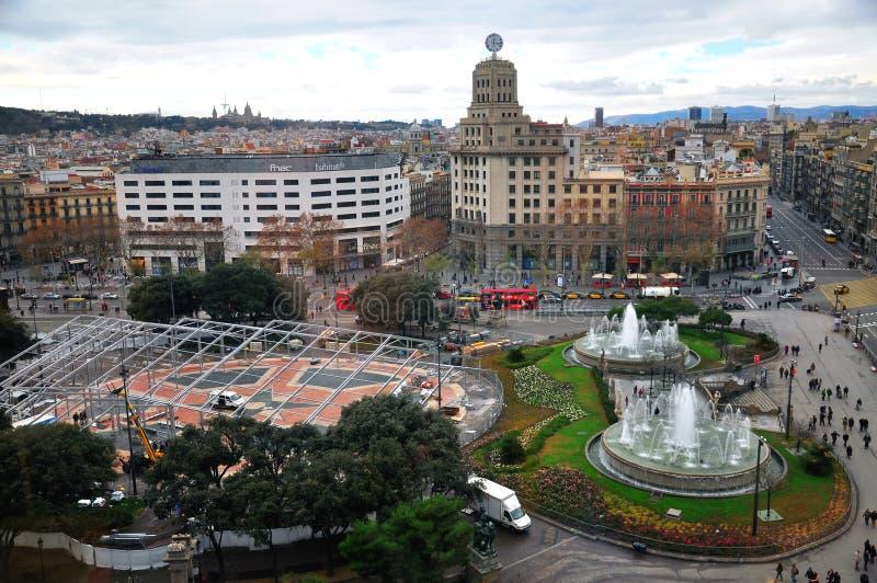 Взгляд сверху города Барселоны стоковое изображение rf