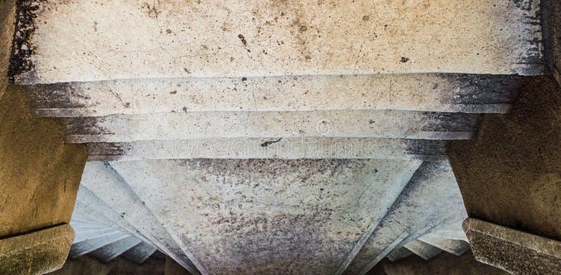 Взгляд сверху лестницы Camondo в районе Beyoglu Стамбула стоковое изображение