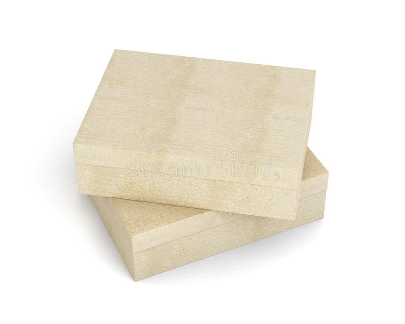 Взгляд сверху 2 закрытых коробок на белой предпосылке rende 3D бесплатная иллюстрация