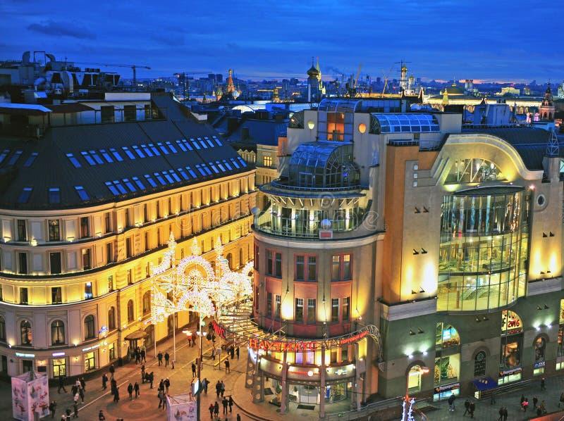 Взгляд сверху исторического центра города Москвы стоковое фото