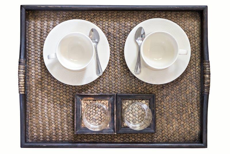взгляд сверху кофейной чашки стоковые изображения rf