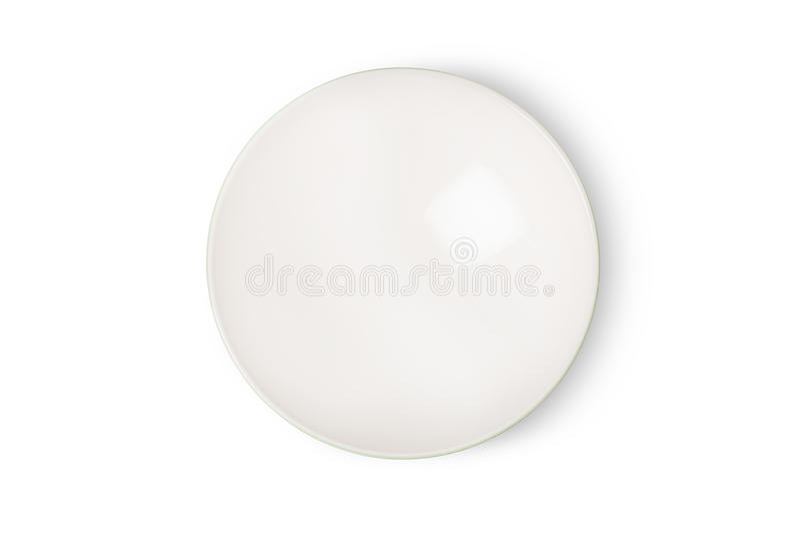 Взгляд сверху пустого белого керамического шара стоковые изображения rf