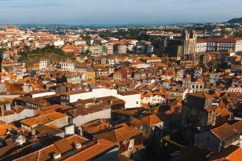 Взгляд сверху старого городка Порту, Португалии Путешествия стоковое изображение rf