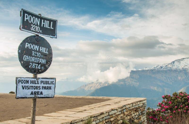 Взгляд сверху Poonhill стоковые изображения rf