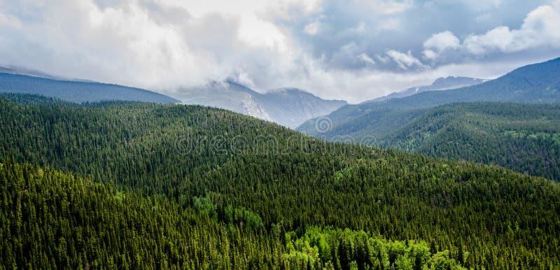 Взгляд скалистых гор Колорадо сценарный стоковое изображение rf