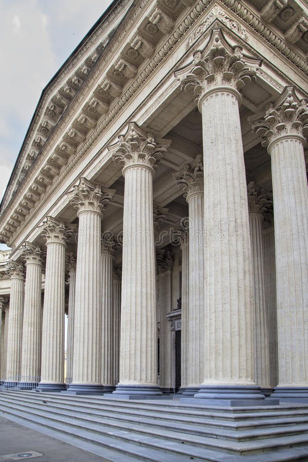 Взгляд собора Андрюа апостола памятник kazan arhitektury собора исторический стоковые изображения