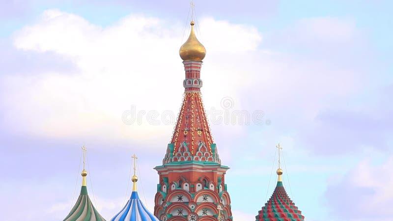 Взгляд собора базилика St, красная площадь, Москва, Россия акции видеоматериалы