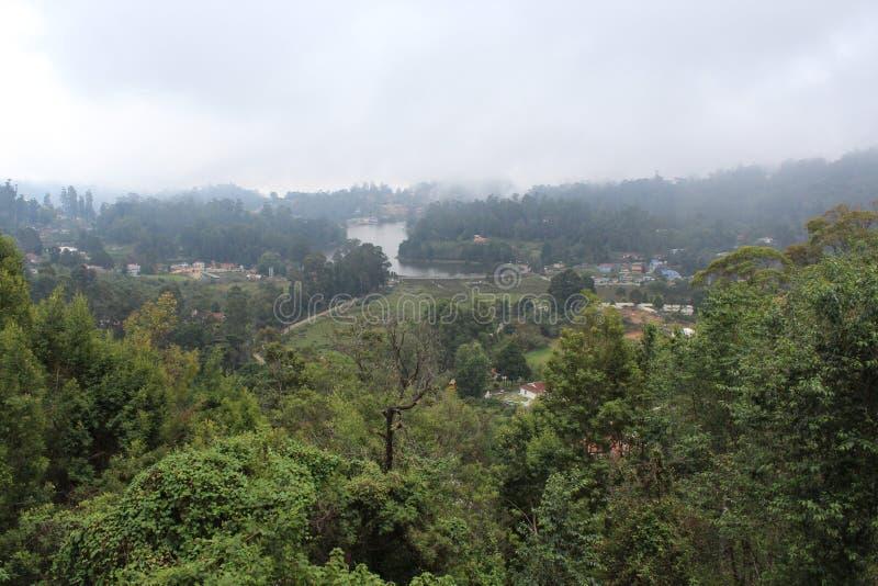 Взгляд со стороны горы стоковое фото rf