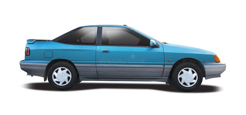 Взгляд со стороны coupe Hyundai s стоковое изображение