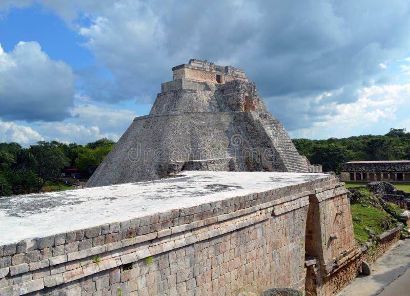Взгляд старого дворца в Мексике стоковое фото rf