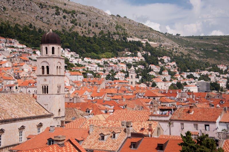 Взгляд старого города Дубровника, Хорватии стоковая фотография