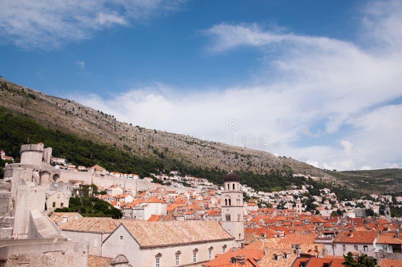 Взгляд старого города Дубровника, Хорватии стоковая фотография rf