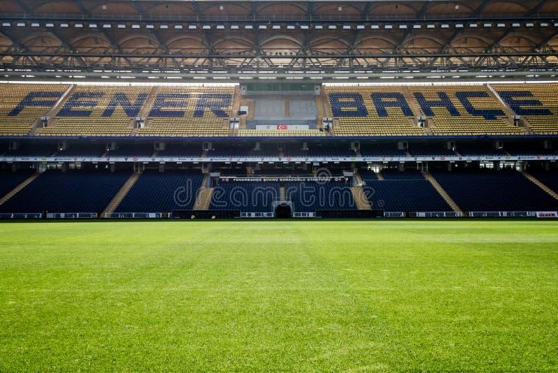 Взгляд стадиона Fenerbahce Sukru Saracoglu в Стамбуле, Турции стоковое фото rf