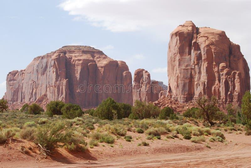 Взгляд следа долины памятника стоковая фотография rf