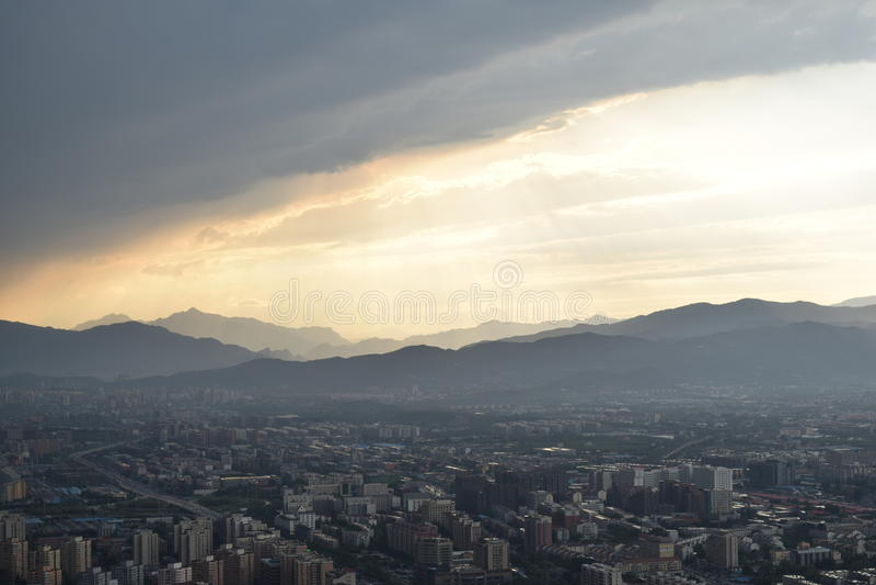 Взгляд телевизионной станции Пекина стоковое изображение