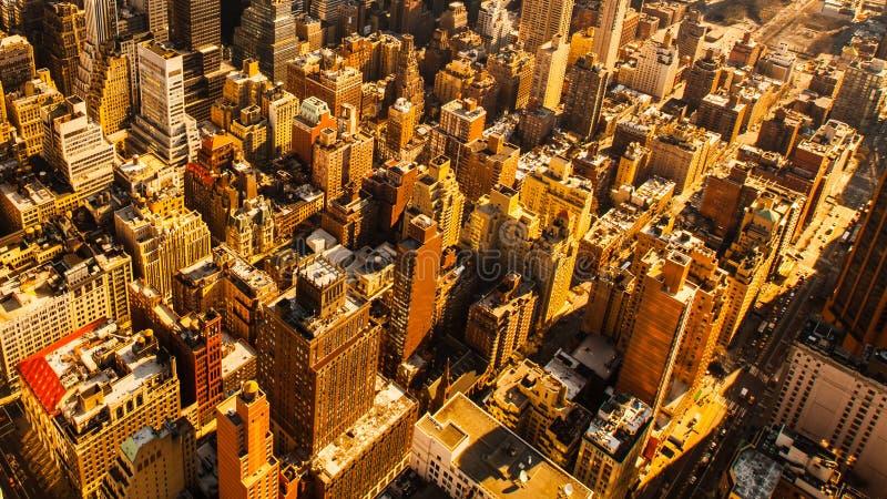 Взгляд трутня Нью-Йорка стоковые изображения