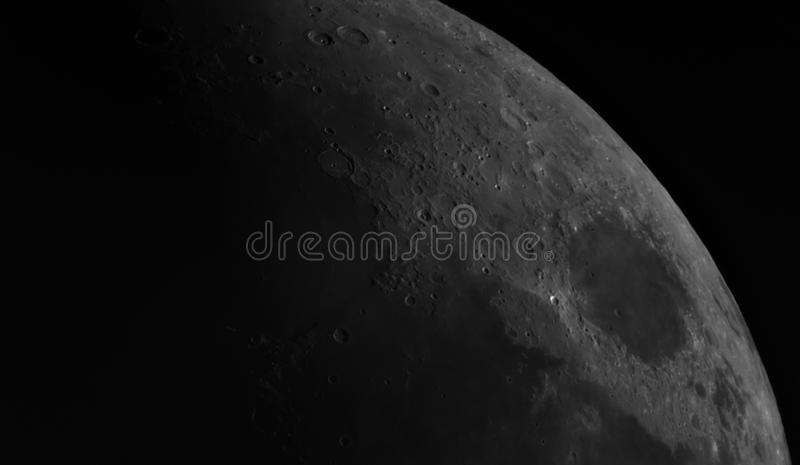 Взгляд луны стоковое изображение rf