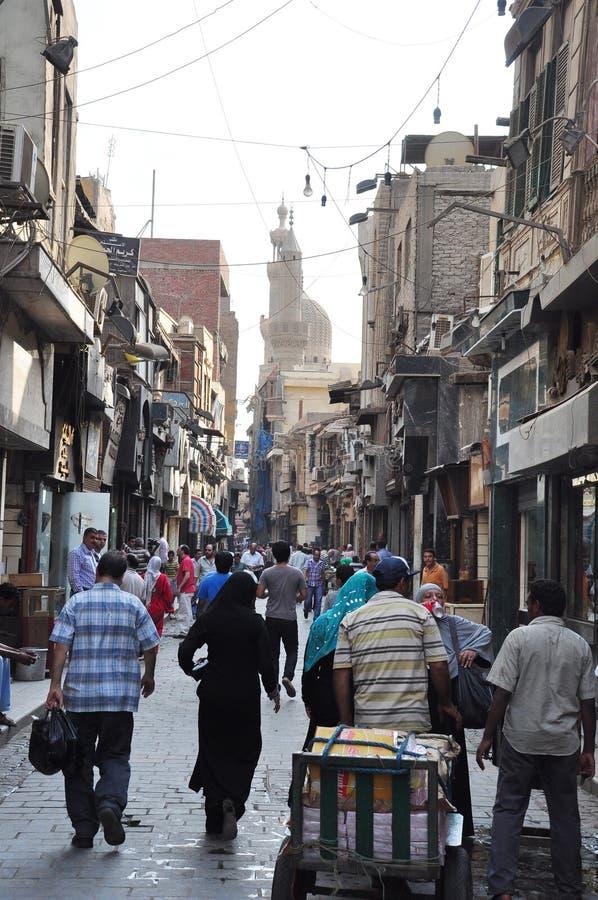 Взгляд улицы в Каире стоковое изображение rf