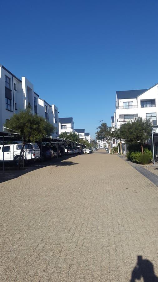 Взгляд улицы в комплексе стоковые изображения