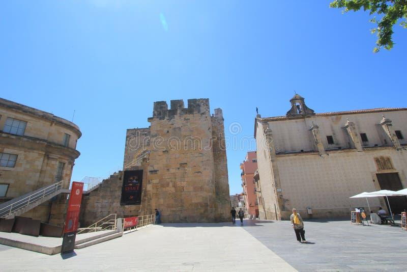 Взгляд улицы города Барселоны стоковые изображения rf