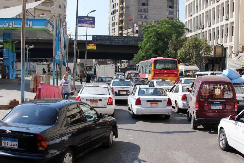 Взгляд улицы Египта Каира стоковое изображение