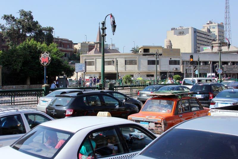 Взгляд улицы Египта Каира стоковая фотография