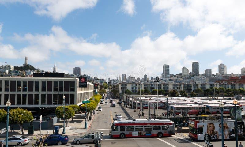 Взгляд улицы на Сан-Франциско стоковые фото