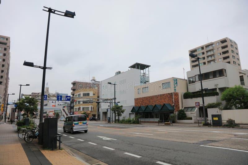 Download Взгляд улицы на Хиросиме 2016 Редакционное Стоковое Изображение - изображение насчитывающей городск, знамена: 81807384