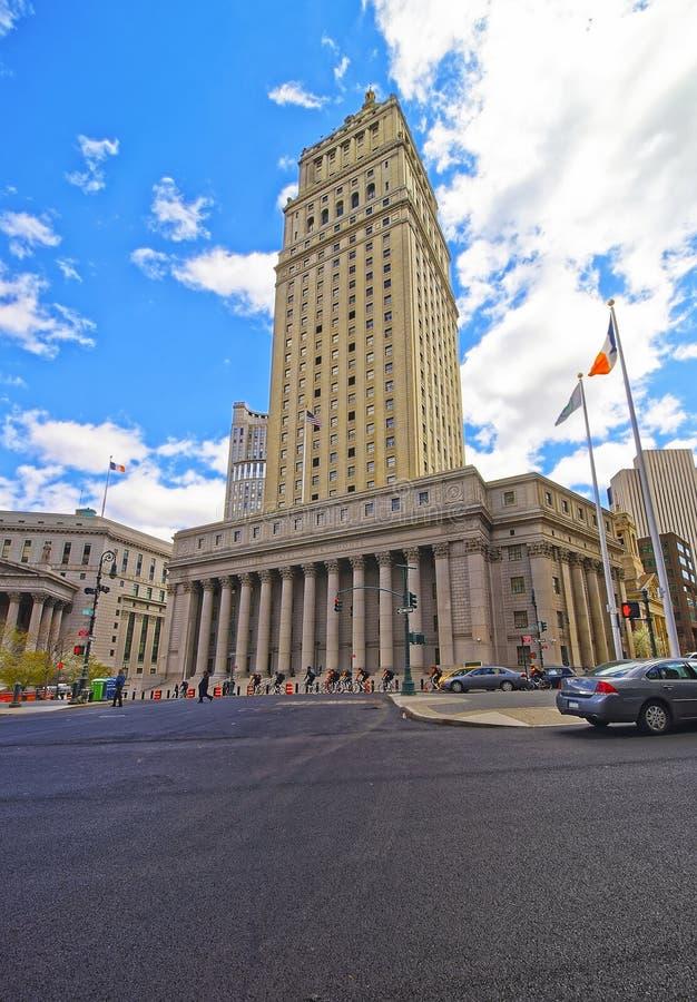 Взгляд улицы на Thurgood Marshall Соединенных Штатах Courthhouse стоковые изображения