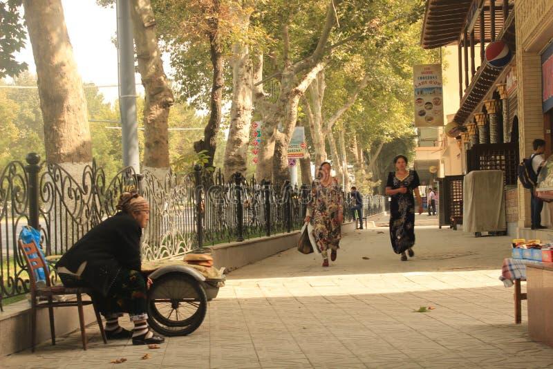 Взгляд улицы Самарканда стоковые фото