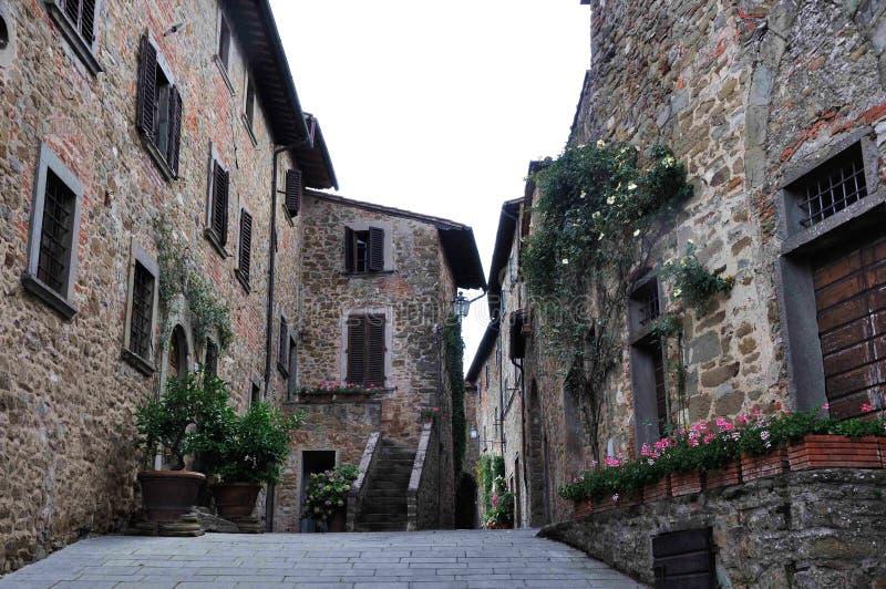 Взгляд улицы сделанный на празднике в Италии стоковая фотография