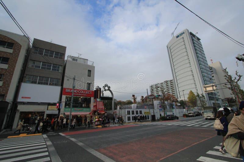 Взгляд улицы токио в Японии стоковые фотографии rf