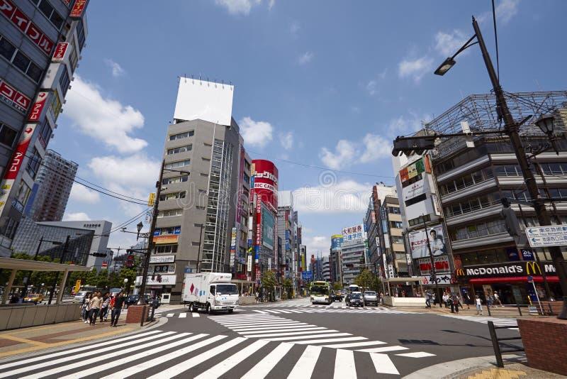 Взгляд улицы токио стоковое фото