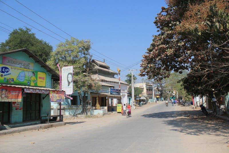 Взгляд улицы Bagan Мьянмы стоковая фотография