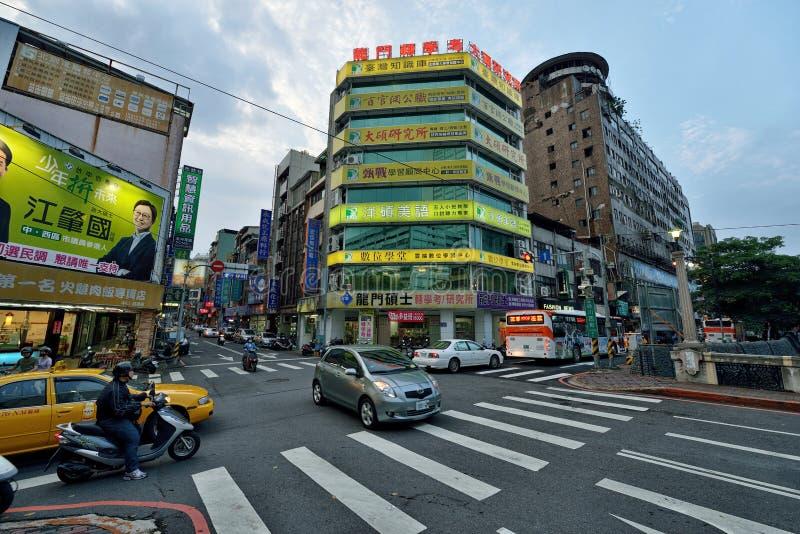 Взгляд улицы Taichung стоковое фото