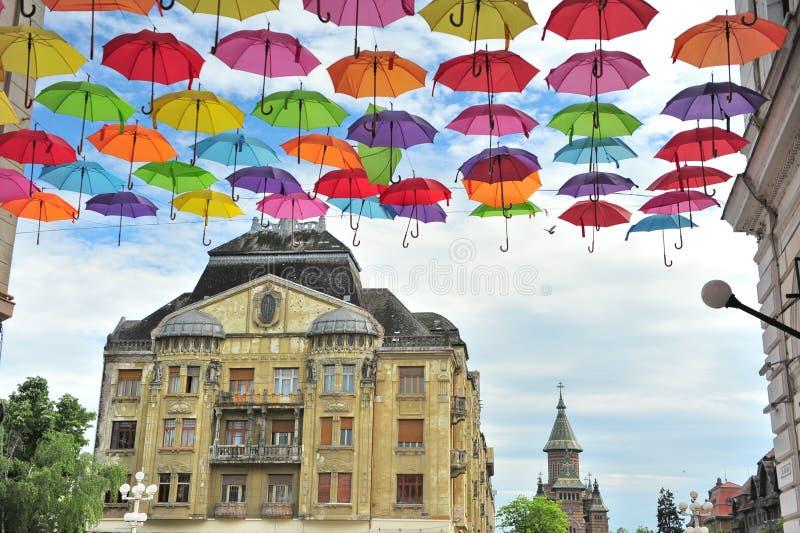 Взгляд улицы Timisoara, Румынии стоковое изображение
