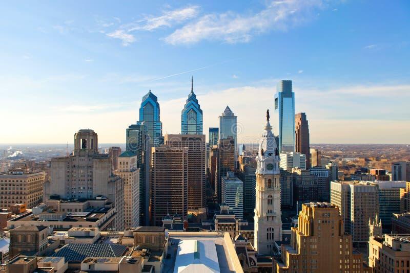 Взгляд Филадельфии от высоты стоковые изображения rf