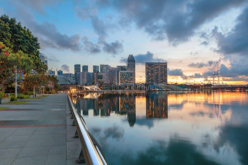 Взгляд центрального Сингапура стоковые изображения