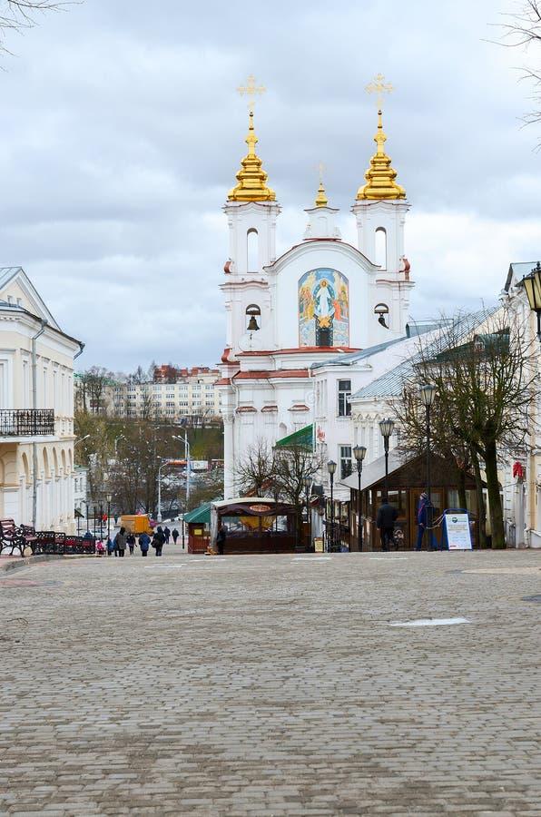 Взгляд церков Voskresenskaya (Rynkovaya), Витебск, Беларусь стоковое изображение rf