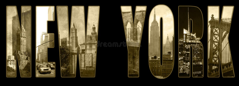 Взгляды Манхаттана на Нью-Йорке стоковое фото rf