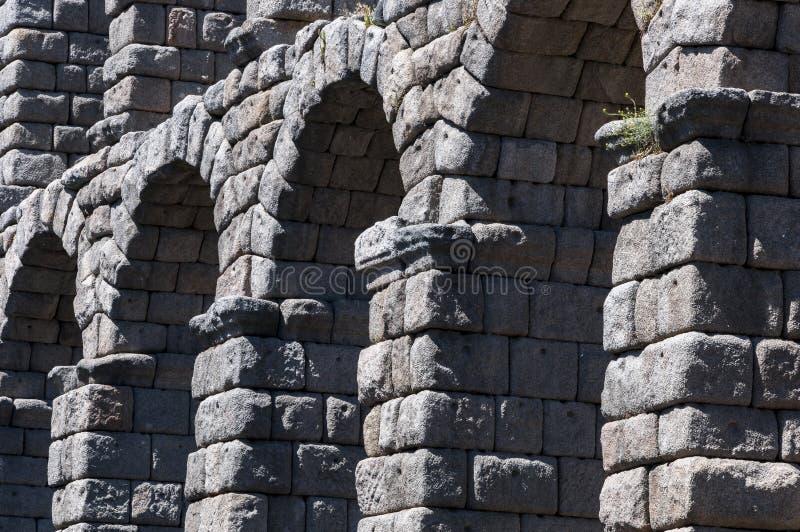 Взгляды мост-водовода Сеговии стоковая фотография rf