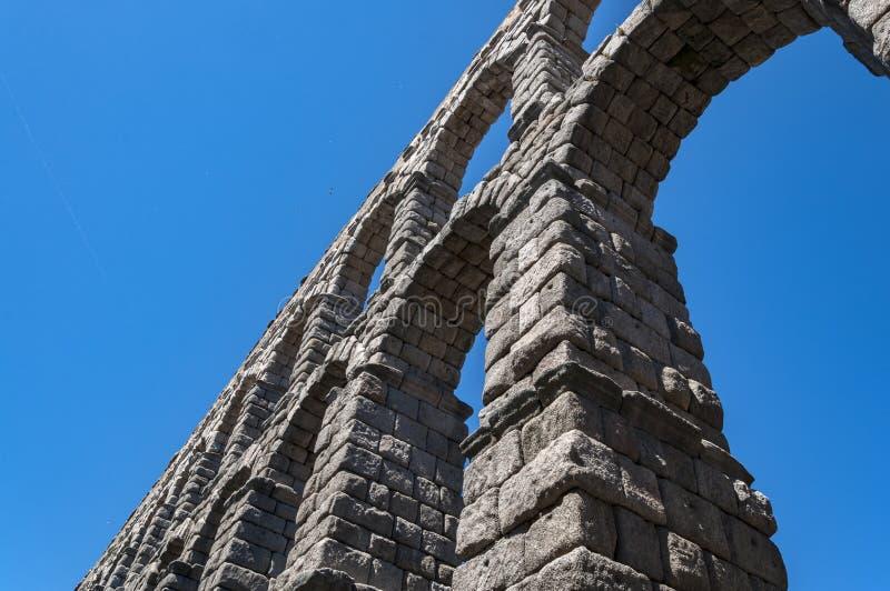 Взгляды мост-водовода Сеговии стоковые изображения