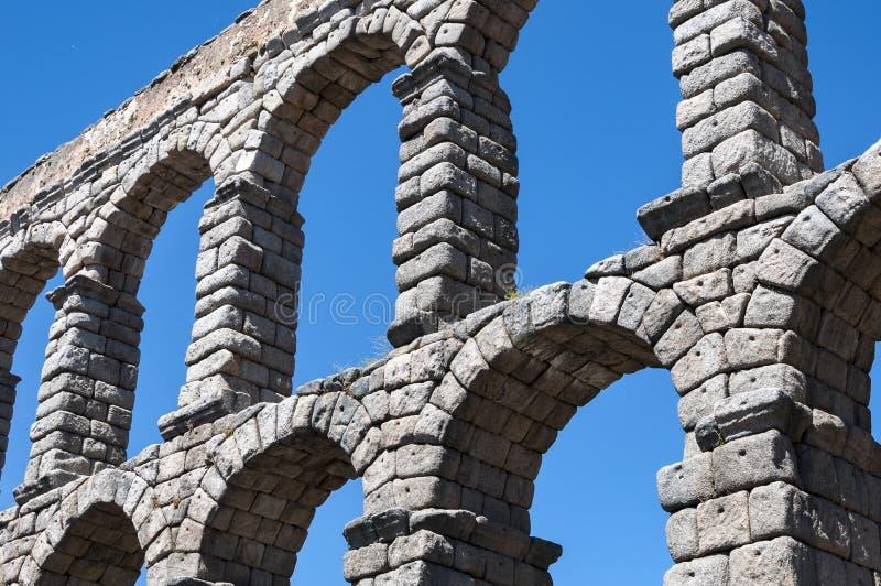 Взгляды мост-водовода Сеговии стоковые изображения rf
