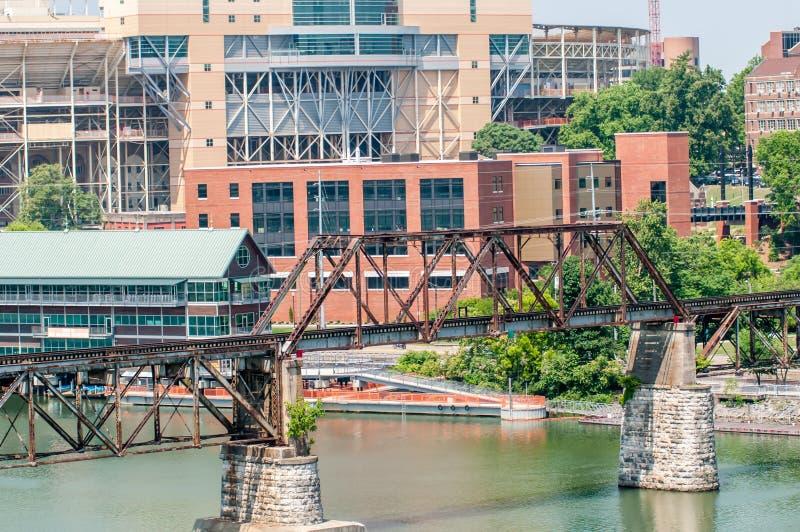 Взгляды Ноксвилла Теннесси городские на солнечный день стоковые фотографии rf