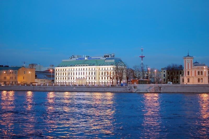 Взгляды ночи Санкт-Петербурга стоковые фото