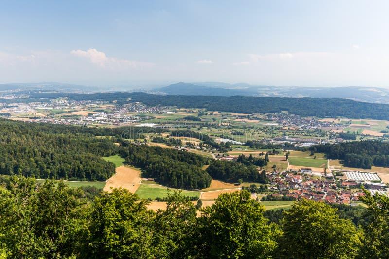 Взгляды от к горы Lagern к Цюриху стоковая фотография