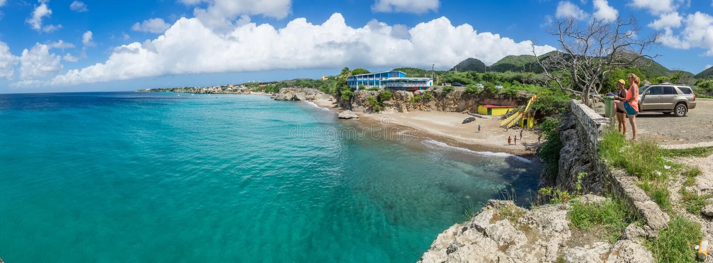 Взгляды форта Westpunt и Playa вокруг Curacao стоковое фото