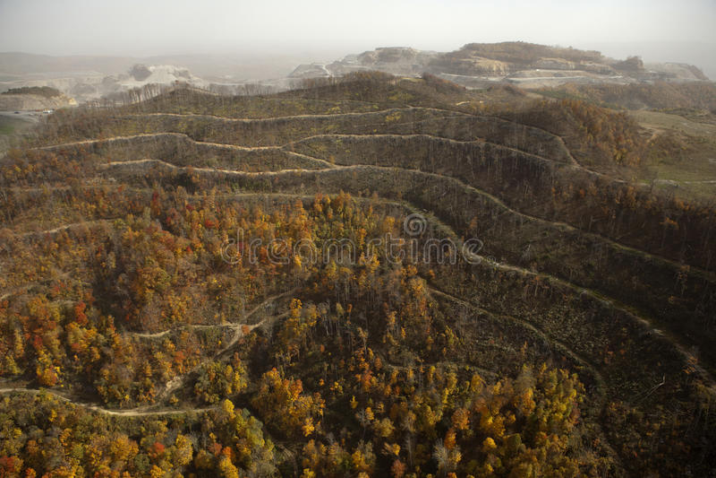 Взгляд Appalachia угольной шахты стоковая фотография rf