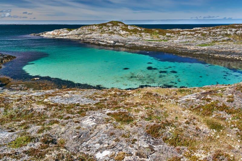 Взгляд Archipelag залива бирюзы стоковое изображение